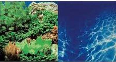 Fotoachterwand planten 8 / marine blauw -blister